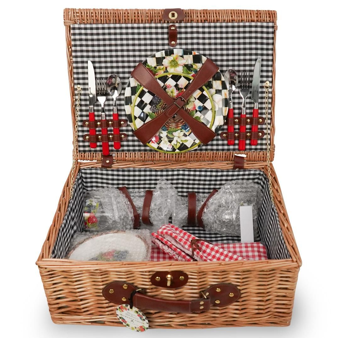"""Mackenzie Childs """"Berries and Blossoms"""" Picnic Set"""