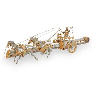 Yossi Swed Gilt Silver Chariot and Dagger