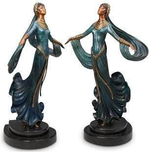 "Pair Erte (Russian/French, 1892-1990) ""Ecstasy"" Bronzes"