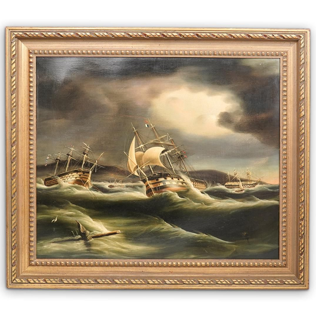 """Thomas Buttersworth (British, 1768-1842) """"The Gale of"""