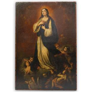 """Italian School, """"The Immaculate Conception"""" Oil on"""