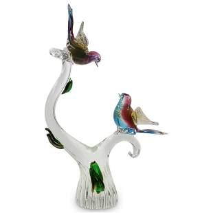Murano Glass Garden Bird Statue