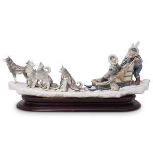 "Lladro ""Onward"" Porcelain Group #1742"