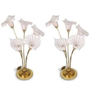 Majorie & Majorie Calla Lilies Lamps