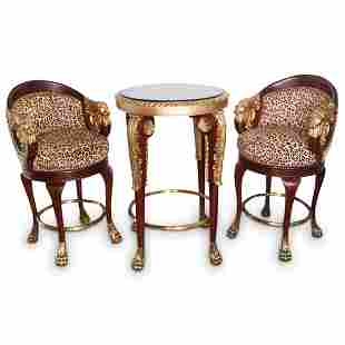 French Empire Style High Top Table Set
