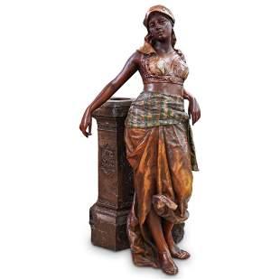 Large Orientalist Polychrome Statue
