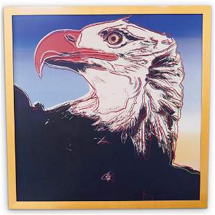 "After Andy Warhol ""Bald Eagle"" Screenprint"