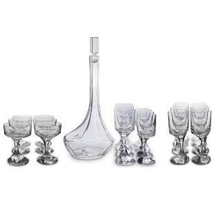 (25 Pc) Baccarat Crystal Stemware Set