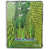 Henri-Robert Bresil (Haitian. 1952-1999) Oil on Canvas