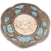 Sterling Silver Cameo Compact Case