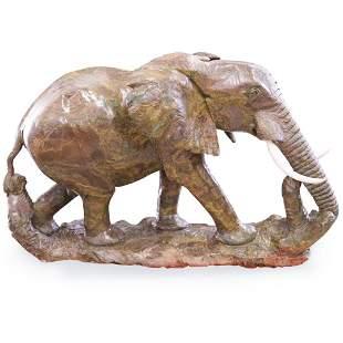 James Tandi (Zimbabwe, b 1956-) Large Carved Verdite