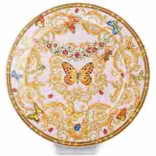 "Versace Rosenthal ""Butterfly Garden"" Porcelain Charger"