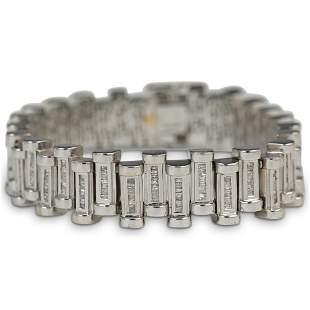 14k Gold and Diamond Link Bracelet