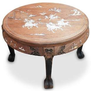 Mother Of Pearl Inlaid Tea Table