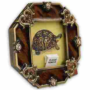 Jay Strongwater Tortoise Motif Picture Frame