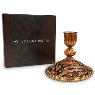 Jay Strongwater Enamel Candlestick