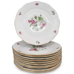 (11 Pc) Herend Porcelain Dinner Plates