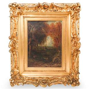 William M. Hart (American 1823-1894) Oil Painting