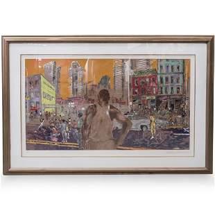 "LeRoy Neiman (American, 1921 - 2012) ""Harlem Streets"""