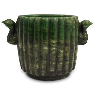 Chinese Spinach Green Jade Pot