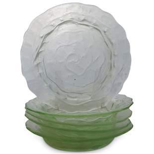 (8 Pc) Salt Glass Dining Set