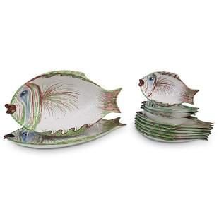 ( 12 Pcs) Italian Ceramic Serving Set