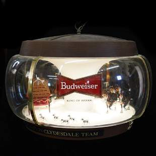 Vintage Budweiser Championship Clydesdale Sign