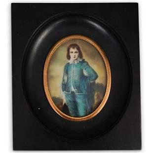 """After """"The Blue Boy"""" Miniature Portrait"""