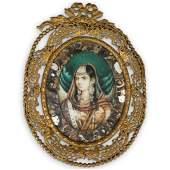 19 Cent. Miniature Painting of Mumtaz Mahal