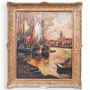 Signed Vienesen Oil On Canvas Painting