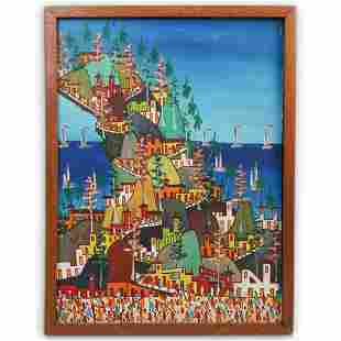 Signed Haitian Oil On Canvas Painting