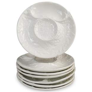 French Porcelain Oyster Plates