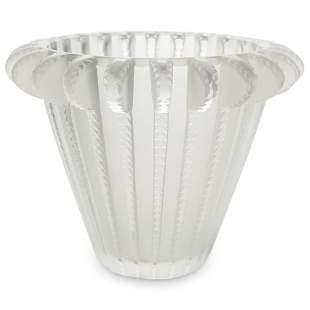 "Lalique Crystal ""Royat"" Vase"