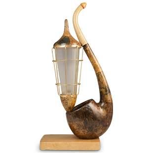Aldo Tura Pipe Table Lamp