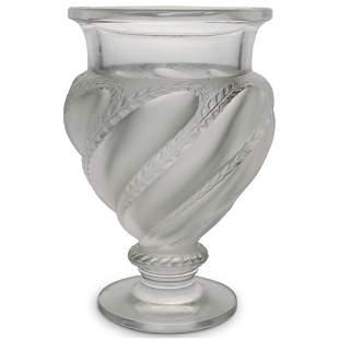 "Lalique ""Ermenonville"" Crystal Vase"