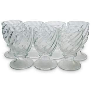 (7 Pc) Murano Glass Goblet Set