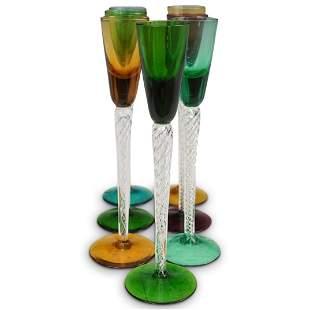 (7 Pc) Murano Glass Stemware Set