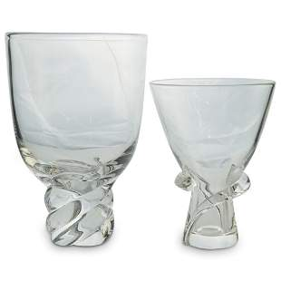 (2 Pc) Steuben Glass Vases