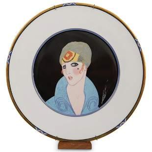 "Erte "" Yellow Turban"" Porcelain Plate"