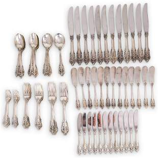 """(97 Pc) Sterling Wallace """"Grand Baroque"""" Flatware Set"""