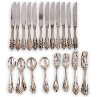 """(57 Pc) Sterling Wallace """"Grand Baroque"""" Flatware Set"""