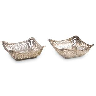 (2 Pc) English Sterling Silver Dishes