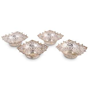 (4 Pc) Silverplate Reticulated Bowls
