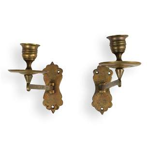 Wall Mounted Brass Candle Stick Holders
