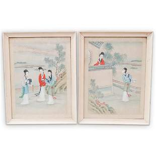 (4 Pc) Japanese Painted Scroll Set