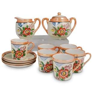 (12 Pc) Japanese Painted Porcelain Tea Set