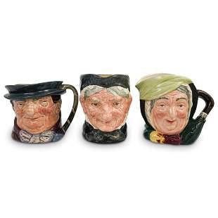 (3 Pc) Royal Doulton Porcelain Toby Jugs