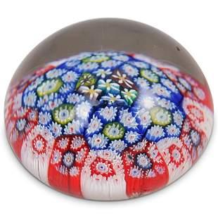 Murano Millefiori Glass Paperweight