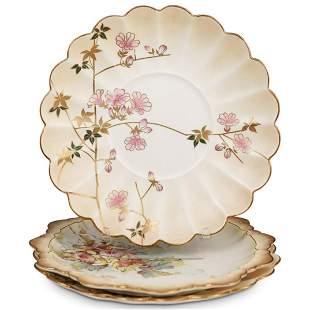 (3 Pc) Royal Doulton Burslem Porcelain Plates