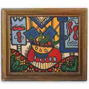 A. Pelaez (Cuban 1896-1968) Oil Painting